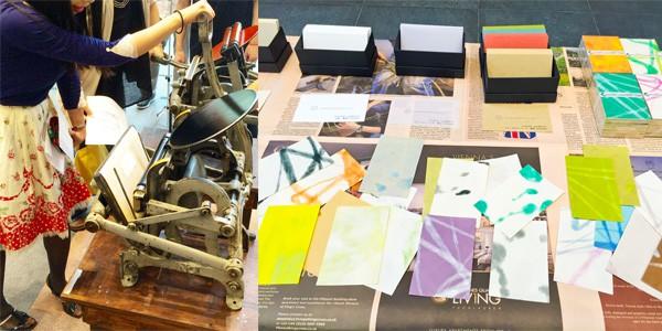 紙成屋の活版印刷の様子