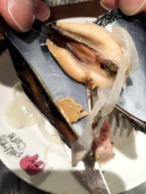ムール貝に蟹が2匹。