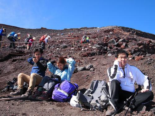 富士山登山 9号目広場