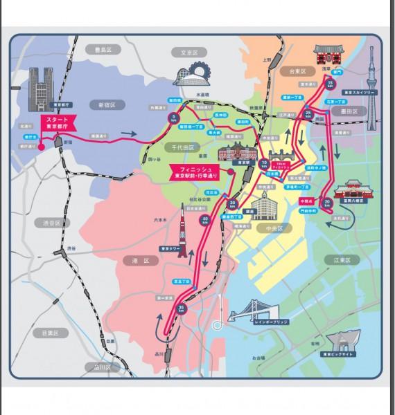 東京マラソンコース2018