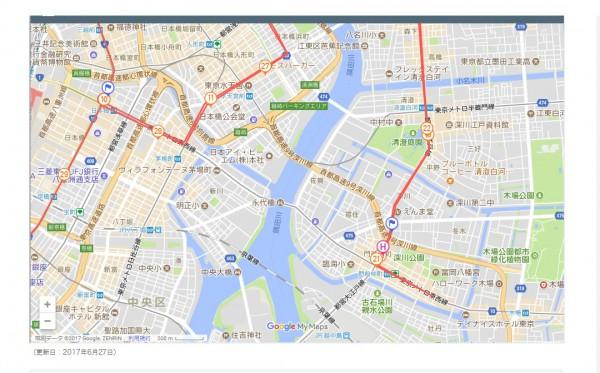 永代橋地図