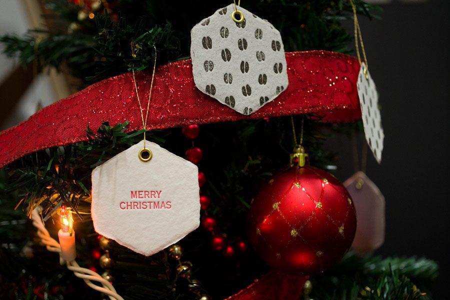 クリスマスツリー 紙 オーナメント