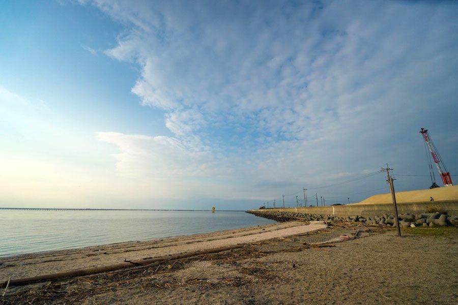 大牟田 三池港から望む有明海