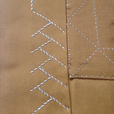 古代鳥足縫い