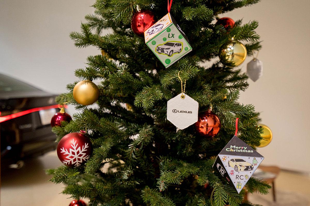 レクサス青山 LEXUS 活版印刷 クリスマスオーナメント